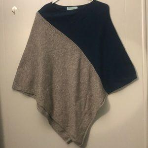 Celeste wool knit poncho one sz